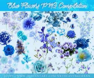 Blue Flowers Compilation PNG Pack-XxTheAvengerXxX by XxTheAvengerXxX