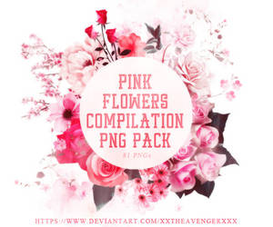 Pink Flowers Compilation PNG Pack-XxTheAvengerXxX by XxTheAvengerXxX