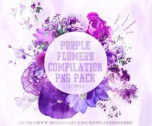 Purple Flower Compilation PNG Pack-XxTheAvengerXxX by XxTheAvengerXxX