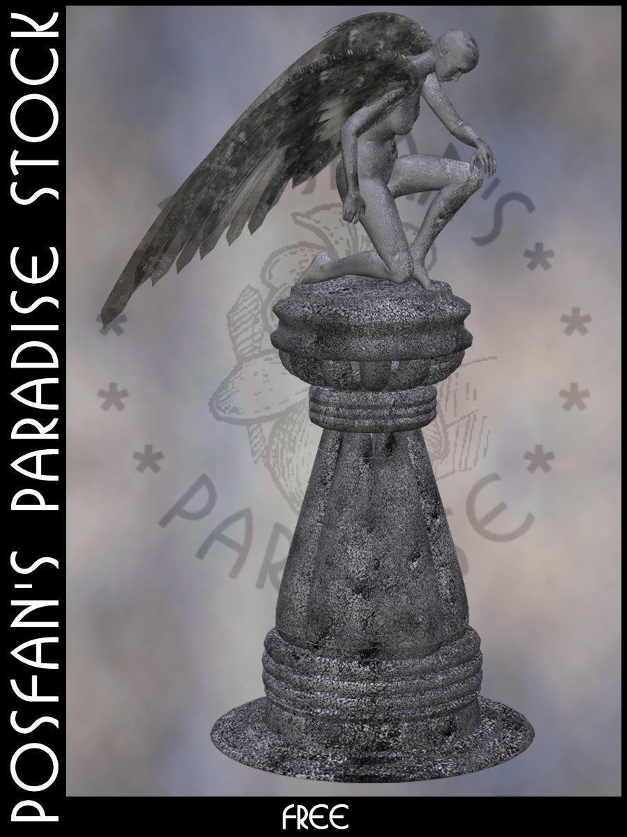 Statue by poserfan-stock