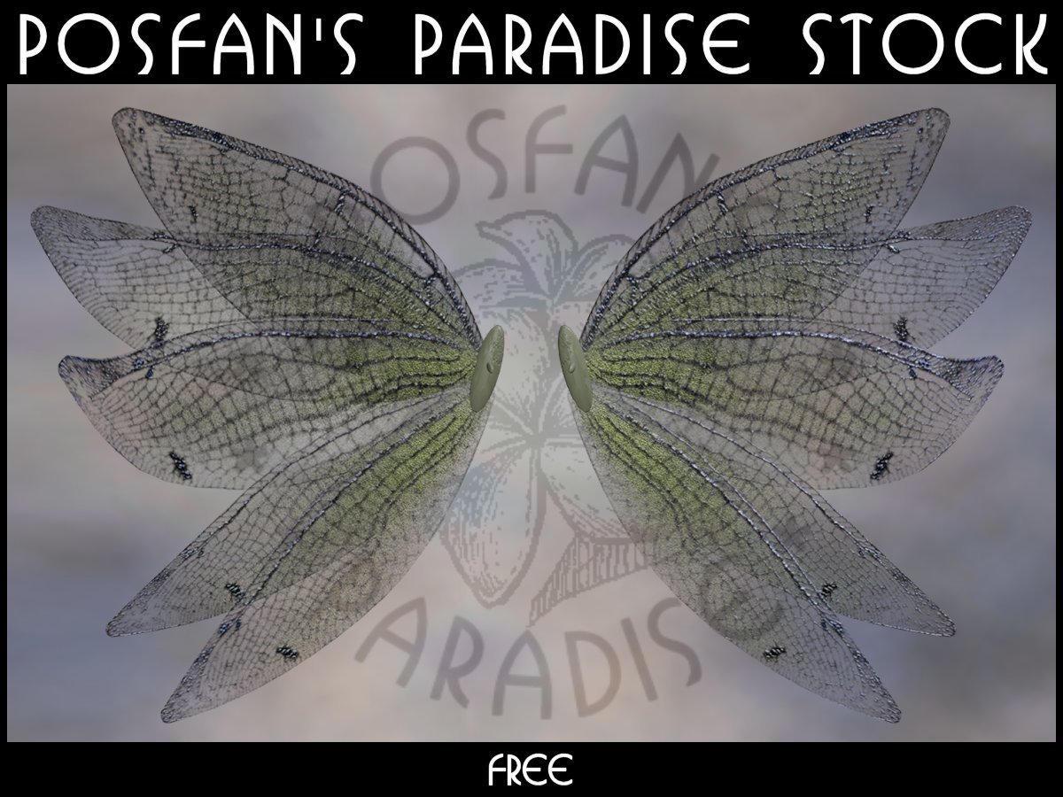 Fee Wings 001 by poserfan-stock