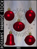 Xmas Baubles 016 by poserfan-stock