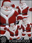 Toon Santa 001 by poserfan-stock