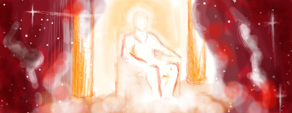 I tried drawing God lol by JesusSavedMe777