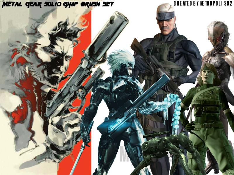 Metal Gear Solid GIMP Brushes by metropolis92