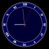 SVG clock by FennecFoxen