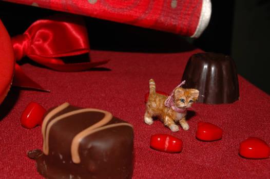 1/12 scale miniature ginger kitten in motion
