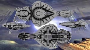 Covenant Cruiser Halo 4 (DL)