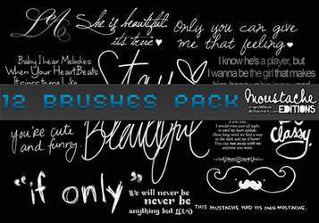 Text Brushes pack by originaldixia