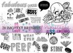 Text+img BRUSHES