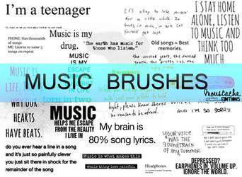 MUSIC TEXT BRUSHES by originaldixia