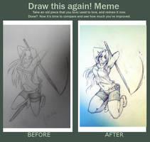 Draw again meme by PawsforHead