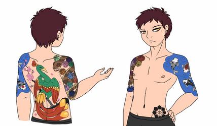 Kai's tattoos by MissMooseMedia