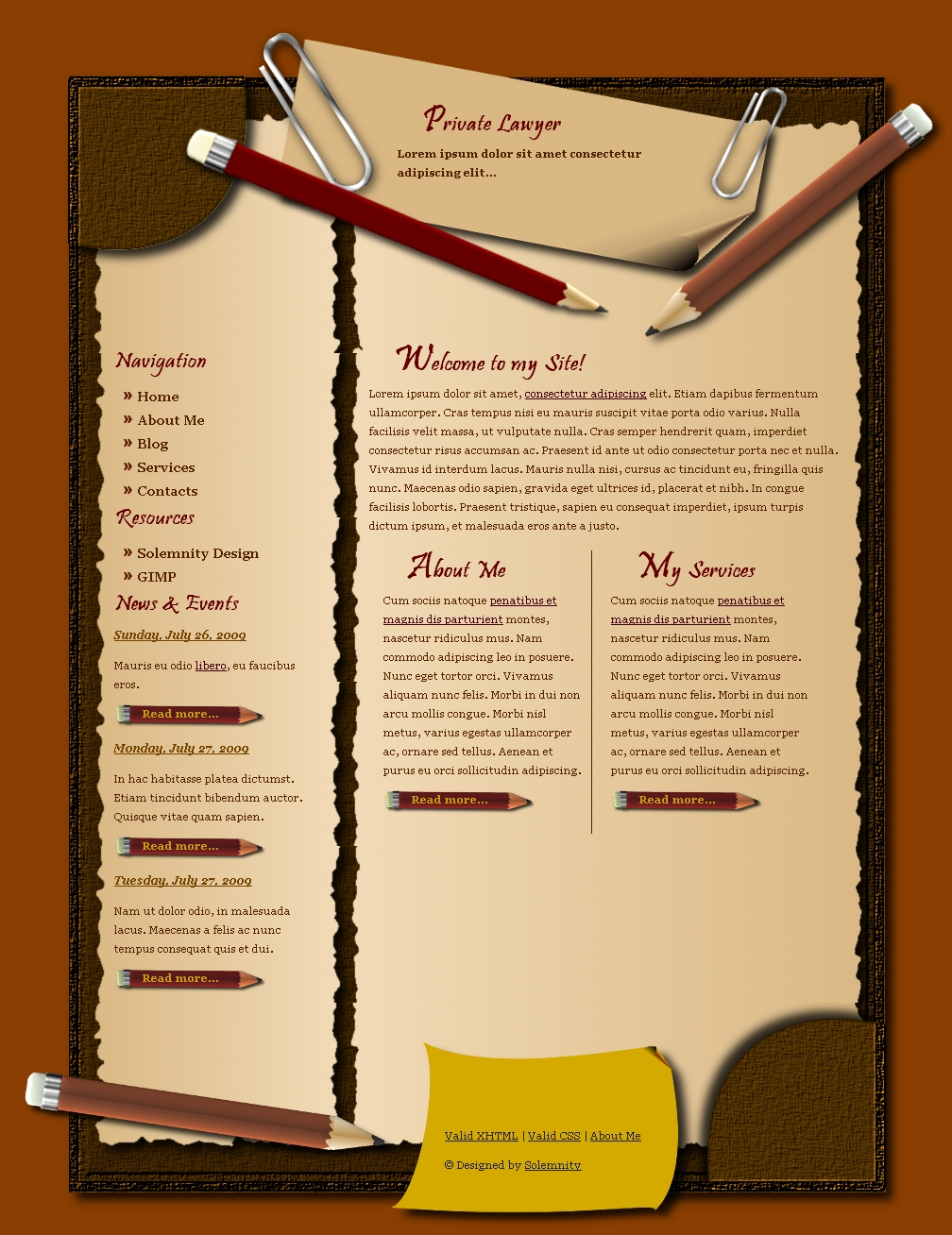 Lawyer's Page Template