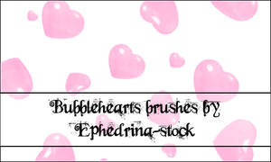 Bubble hearts brushes