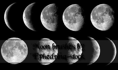Moon brushes by ephedrina-stock