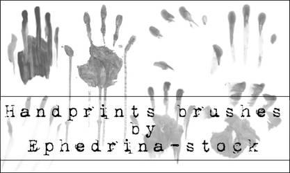 Handprints brushes by ephedrina-stock