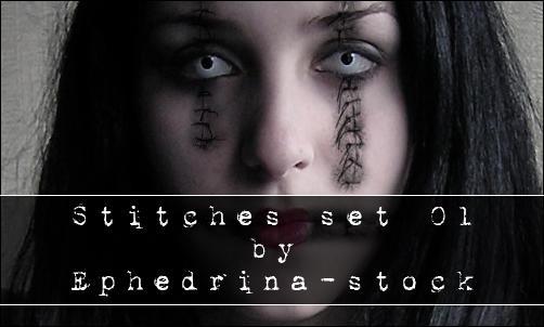 Stitches brushes by ephedrina-stock