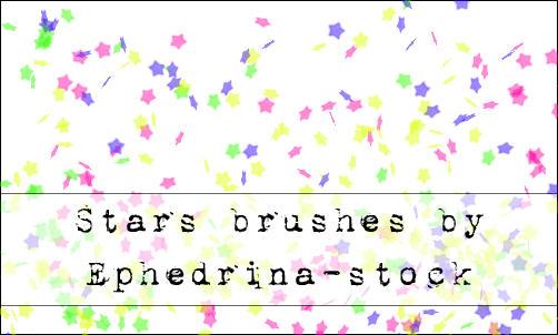 Star brushes by ephedrina-stock