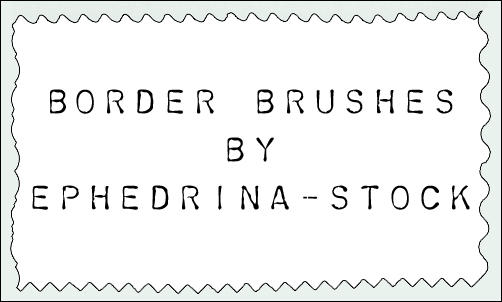 Border brushes by ephedrina-stock