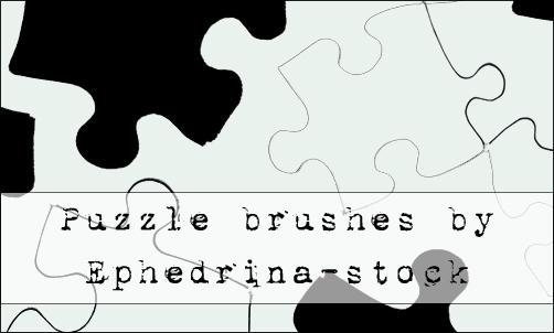 Puzzle brushes by ephedrina-stock