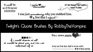 Twilight's Quote brushes - PS