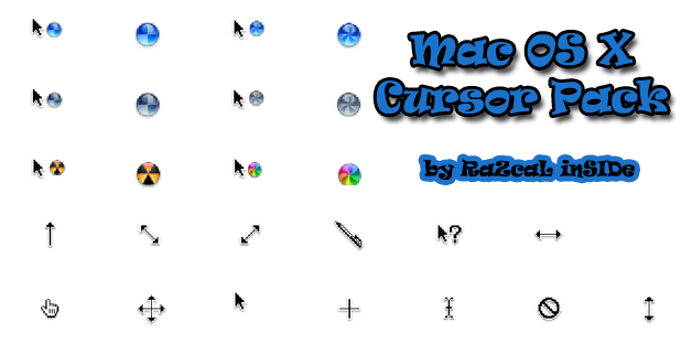 Mac OS X Cursor Pack by RaZcaLinSIDe