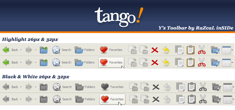 Tango Yz Toolbar Themes by RaZcaLinSIDe