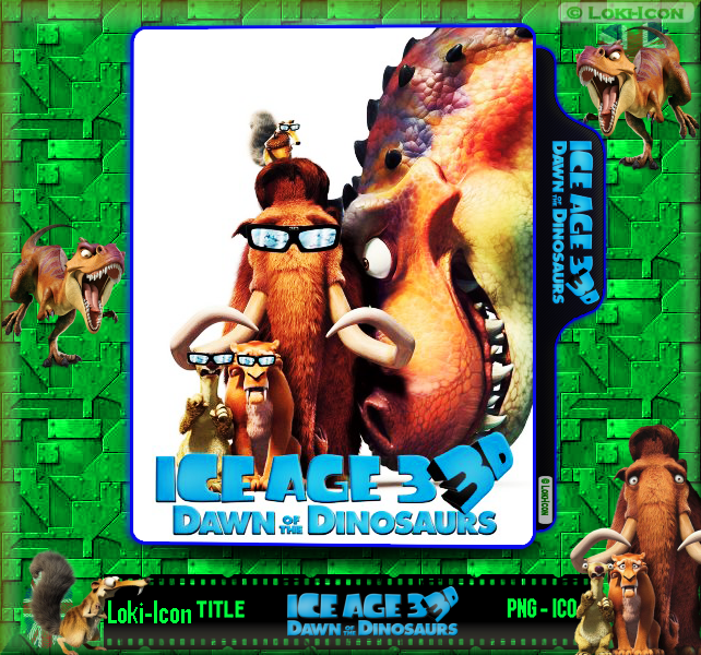 Ice Age 3 Dawn Of The Dinosaurs 2009 3d By Loki Icon On Deviantart