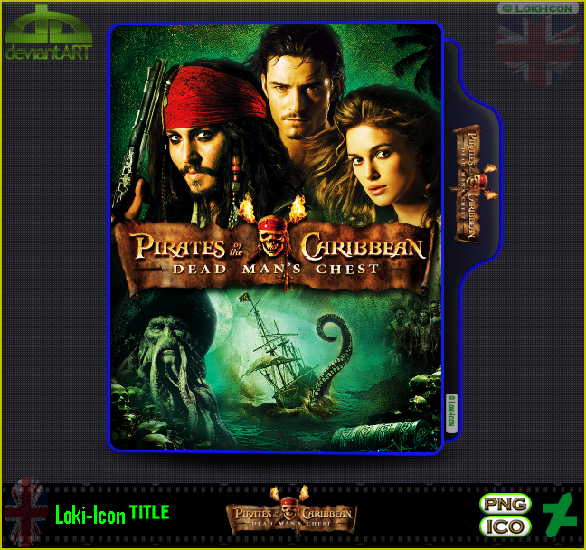 Pirates of the Caribbean 2 Dead Man's Chest (2006) by Loki-Icon on