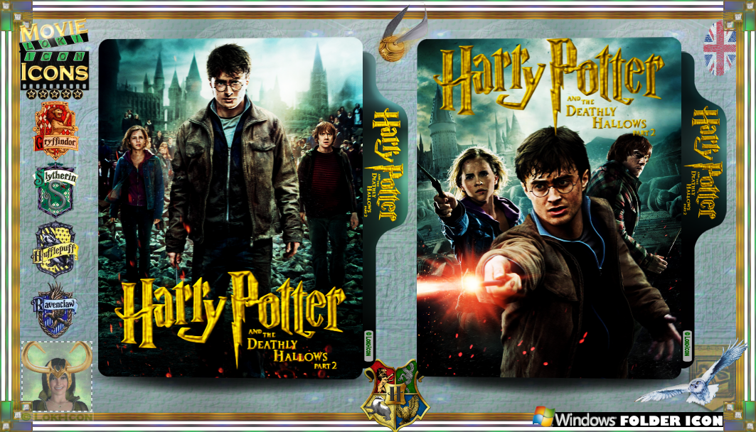 Harry Potter The Deathly Hallows Part 2 2011 By Loki Icon On Deviantart