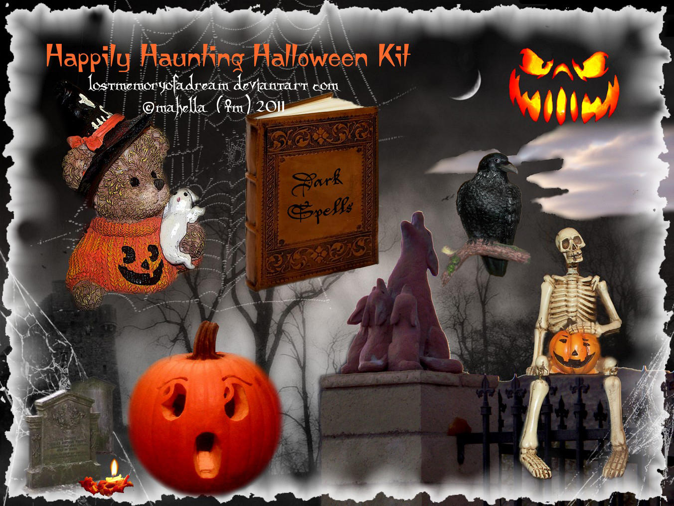 Happily Haunting Halloween Kit by LostMemoryOfADream