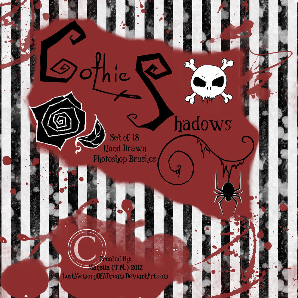 Gothic Shadows Brushes by LostMemoryOfADream