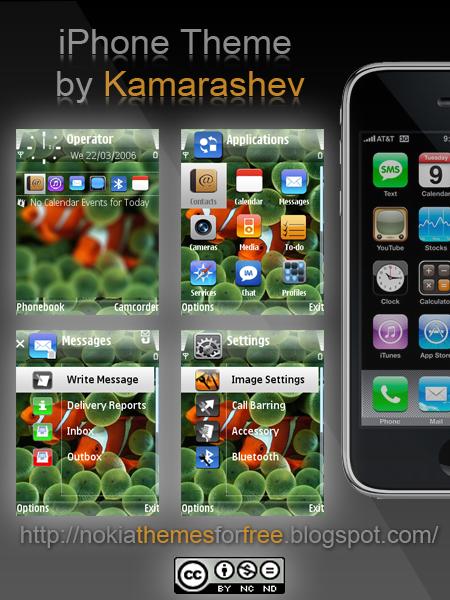 iPhone Theme for Nokia s60 fp1 by Kamarashev