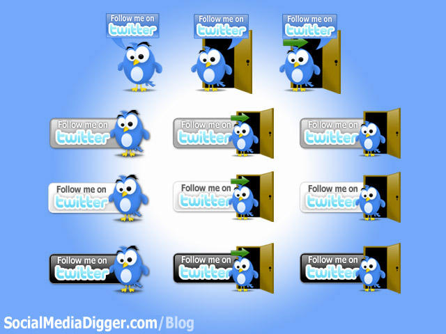 Twitter Button Pack by Kamarashev