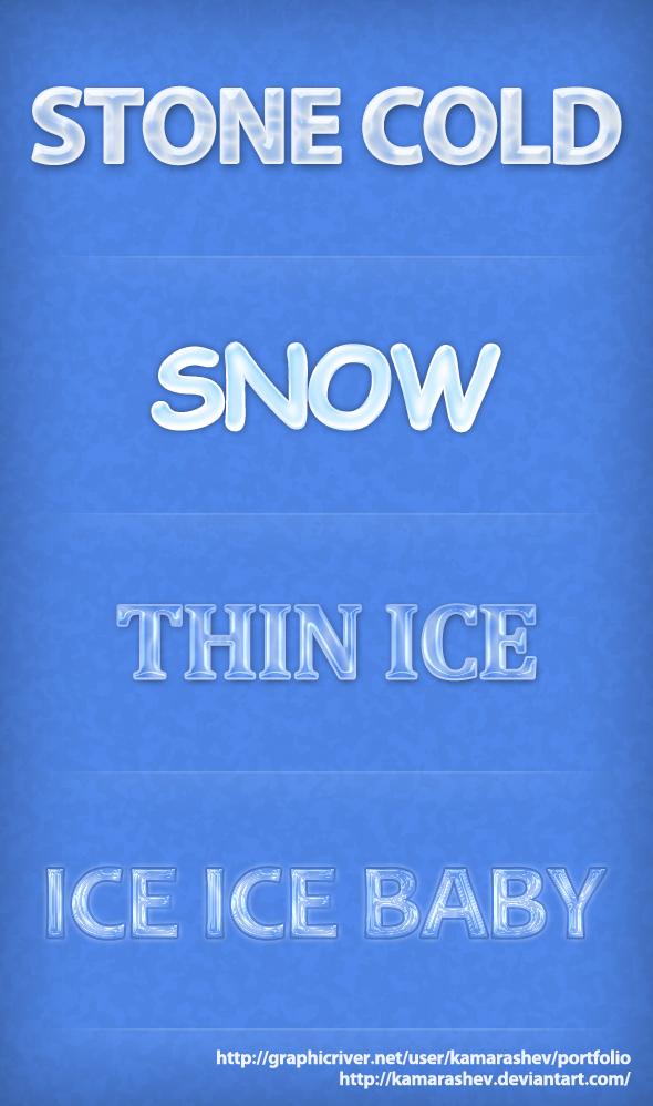 Winter Ice Font Styles