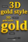 3D Gold Style by Kamarashev