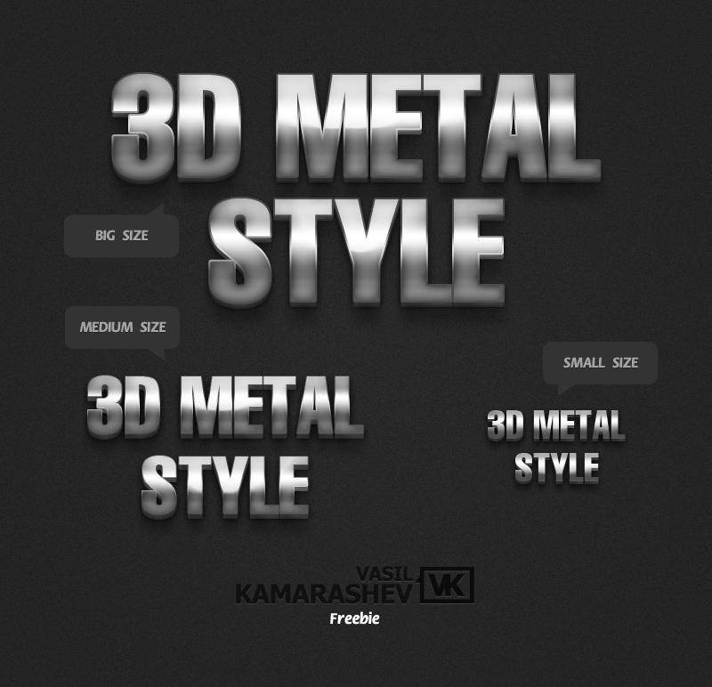 3D Metal Style by Kamarashev