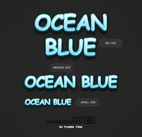 3D Ocean Blue Style by Kamarashev by Kamarashev