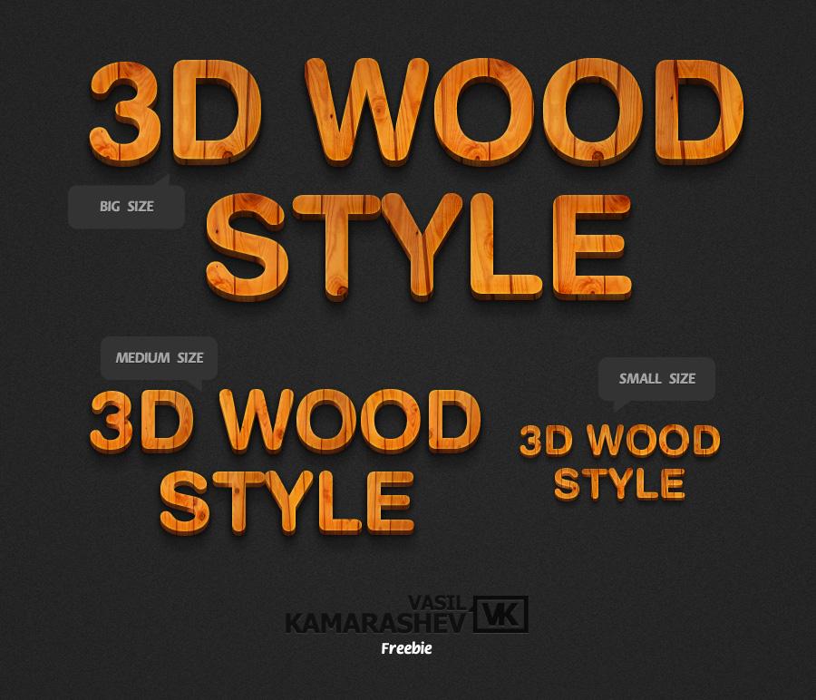 3D Wood Style by Kamarashev