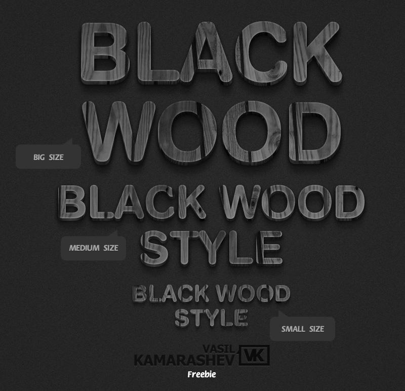 3D Black Wood Style by Kamarashev by Kamarashev