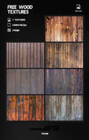 Free Wood Textures by Kamarashev