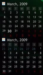 Rainmeter Calendar