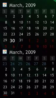 Rainmeter Calendar by limpet