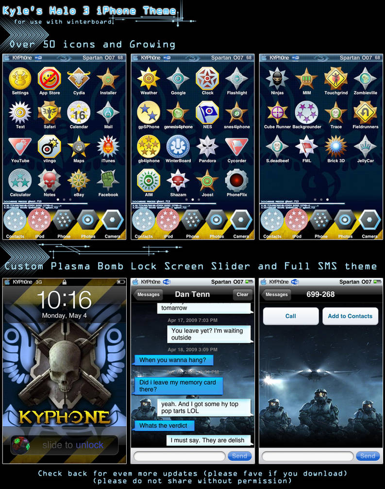 Kyle's Halo 3 iPhone Theme by KyleRobinsonCustoms on DeviantArt