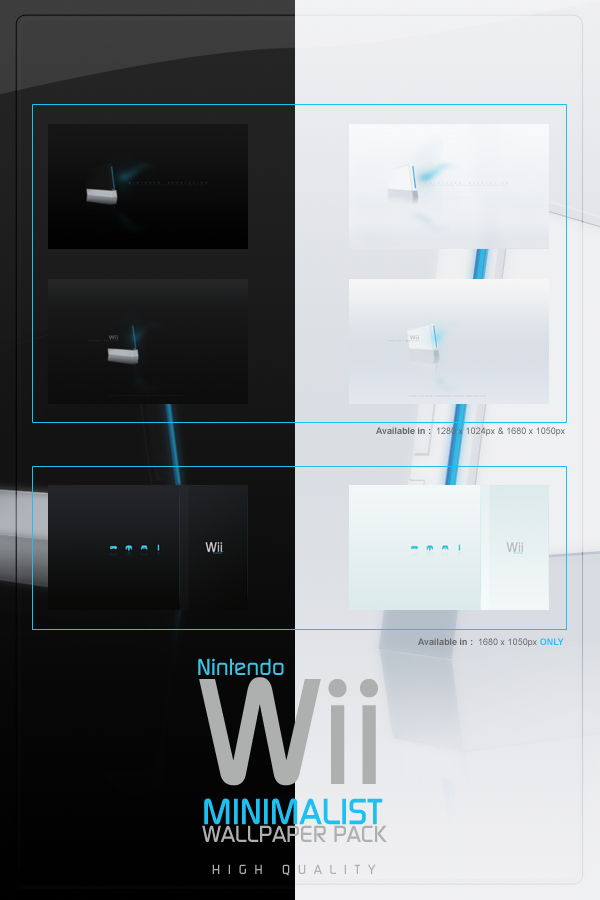 Wii Minimalist Wallpaper Pack by tienano