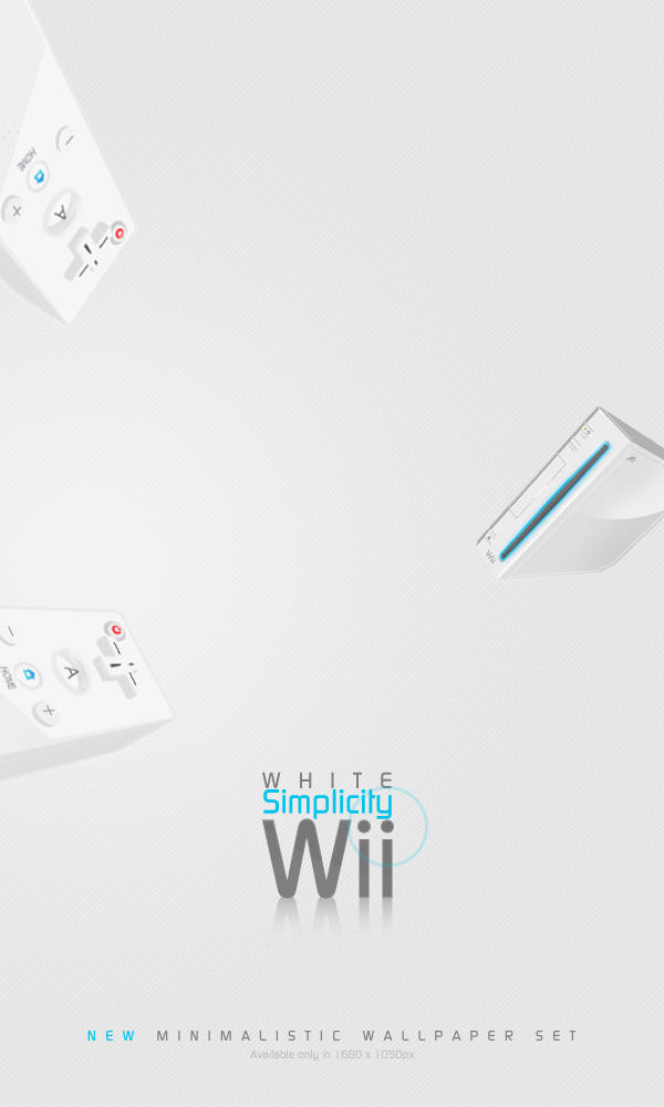 Wii White Simplicity Wall Set by tienano
