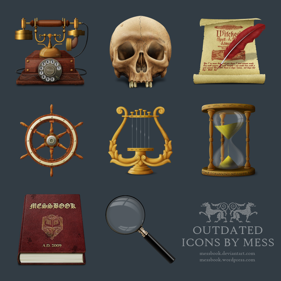 Outdated icons by MessBook