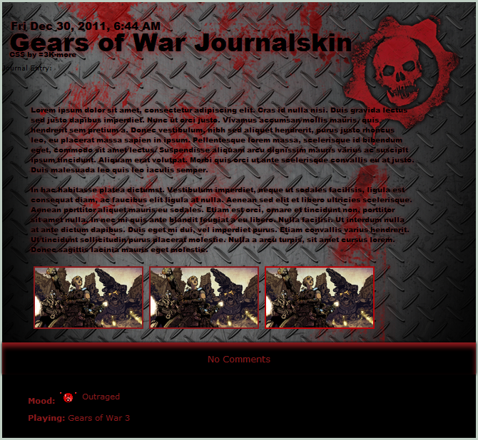 Gears of War Journalskin by 3K-more
