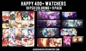 Happy 400+ watchers by akiochan5302